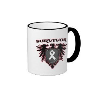 Lung Cancer Survivor Crest Ringer Coffee Mug