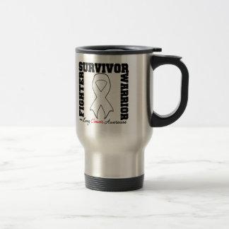 Lung Cancer Survivor Fighter Warrior Travel Mug