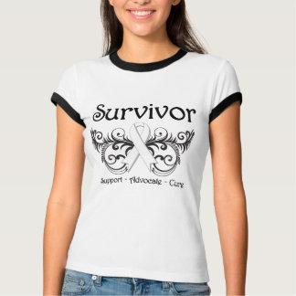 Lung Cancer Survivor Floral Deco T Shirt