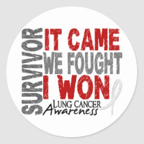 Lung Cancer Survivor It Came We Fought I Won Classic Round Sticker