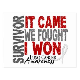 Lung Cancer Survivor It Came We Fought I Won Postcard