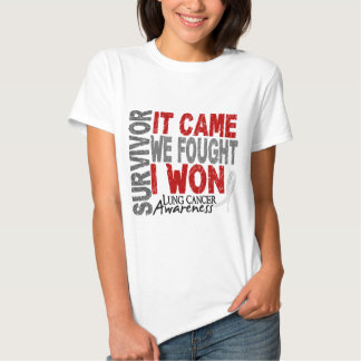 Lung Cancer Survivor It Came We Fought I Won T-Shirt