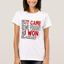 Lung Cancer Survivor It Came We Fought I Won T-Shirt