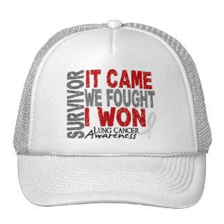 Lung Cancer Survivor It Came We Fought I Won Trucker Hat
