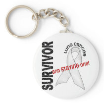 Lung Cancer Survivor Keychain