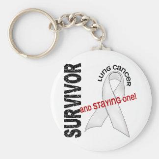 Lung Cancer Survivor Keychain