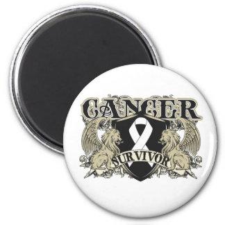 Lung Cancer Survivor Mens Heraldry 2 Inch Round Magnet