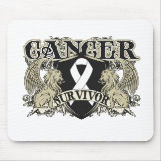 Lung Cancer Survivor Mens Heraldry Mouse Pad