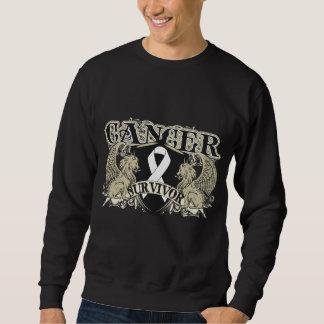 Lung Cancer Survivor Mens Heraldry Pullover Sweatshirts
