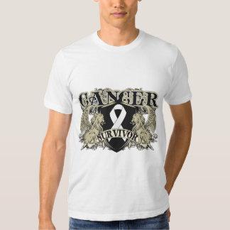 Lung Cancer Survivor Mens Heraldry Shirt