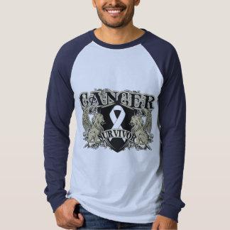 Lung Cancer Survivor Mens Heraldry Tees