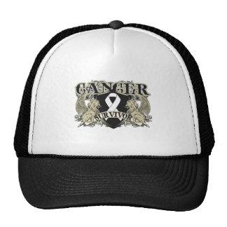 Lung Cancer Survivor Mens Heraldry Trucker Hat