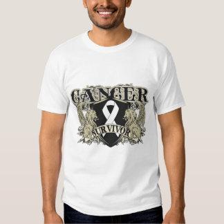 Lung Cancer Survivor Mens Heraldry Tshirt