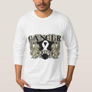 Lung Cancer Survivor Mens Heraldry Tshirts