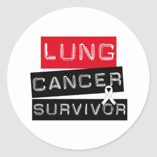 Lung Cancer Survivor Round Sticker