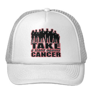 Lung Cancer -Take A Stand Against Cancer Trucker Hat