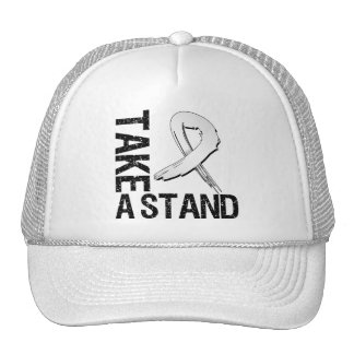Lung Cancer Take A Stand Trucker Hat