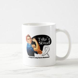 Lung Cancer Take a Stand Classic White Coffee Mug