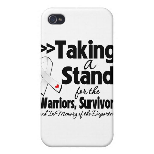 Lung Cancer Taking a Stand Tribute iPhone 4/4S Covers