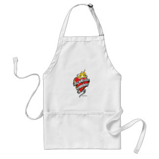 Lung Cancer Tattoo Heart Apron