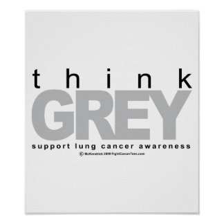 Lung Cancer Think Grey Posters