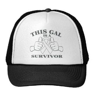 Lung Cancer This Gal is a Survivor Trucker Hat