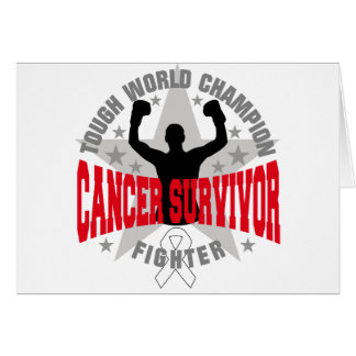 Lung Cancer Tough World Champion Survivor Greeting Card