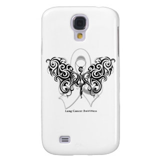 Lung Cancer Tribal Butterfly Ribbon Samsung Galaxy S4 Cover