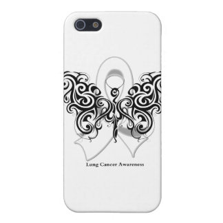 Lung Cancer Tribal Butterfly Ribbon iPhone 5 Cover