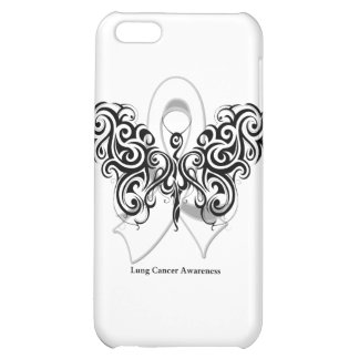 Lung Cancer Tribal Butterfly Ribbon iPhone 5C Covers