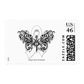 Lung Cancer Tribal Butterfly Ribbon Postage Stamps