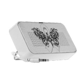 Lung Cancer Tribal Butterfly Ribbon Speakers