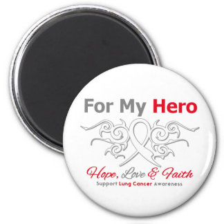 Lung Cancer Tribal Ribbon Hero 2 Inch Round Magnet
