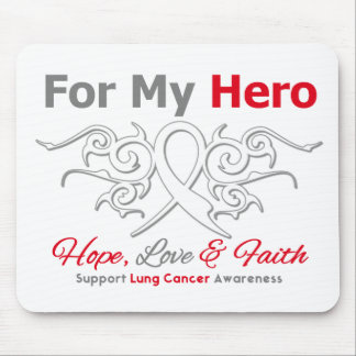 Lung Cancer Tribal Ribbon Hero Mouse Pads