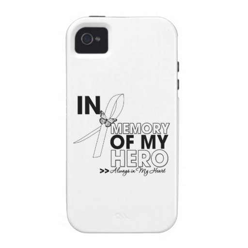 Lung Cancer Tribute In Memory of My Hero iPhone 4/4S Cover