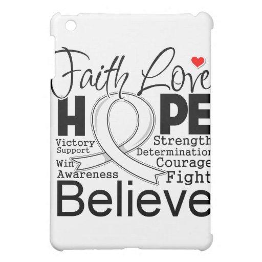 Lung Cancer Typographic Faith Love Hope iPad Mini Cases