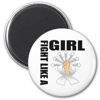 Lung Cancer Victory Fight Like A Girl Fridge Magnet