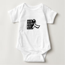 Lung Cancer Wake Up Kick Butt and Repea Baby Bodysuit