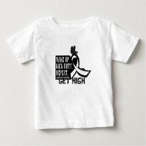 Lung Cancer Wake Up Kick Butt and Repea Baby T-Shirt