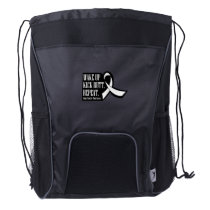 Lung Cancer Wake Up Kick Butt and Repea Drawstring Backpack