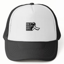 Lung Cancer Wake Up Kick Butt and Repea Trucker Hat