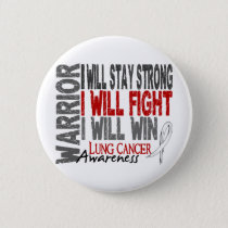 Lung Cancer Warrior Button