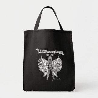 Lung Cancer Warrior Celtic Butterfly Tote Bags