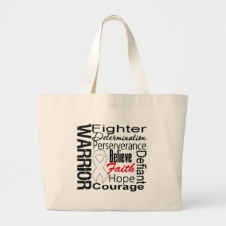 Lung Cancer Warrior Collage Tote Bags