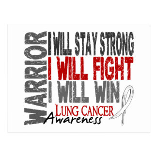 Lung Cancer Warrior Postcard