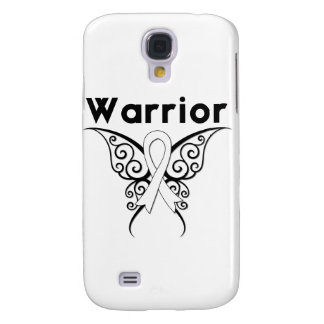 Lung Cancer Warrior Tribal Butterfly Samsung Galaxy S4 Cover