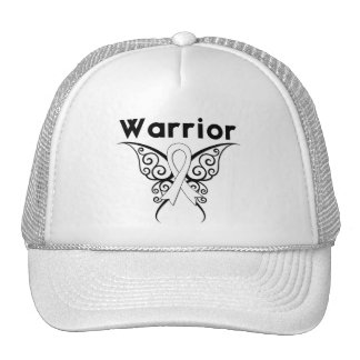 Lung Cancer Warrior Tribal Butterfly Trucker Hats