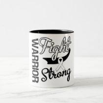 Lung Cancer Warrior Two-Tone Coffee Mug