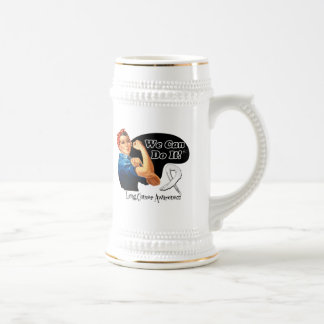 Lung Cancer We Can Do It Rosie The Riveter Coffee Mugs