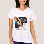 Lung Cancer We Can Do It Rosie The Riveter T-shirts
